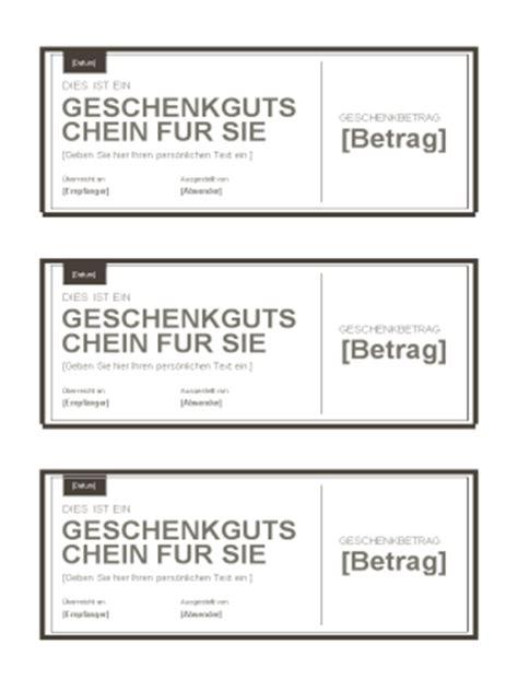 Word Vorlage Jede Seite Gleich geschenkgutscheine templates office