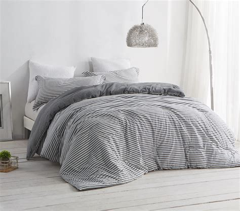 grey and white striped bedroom new dorm room bedding striped gray and white college