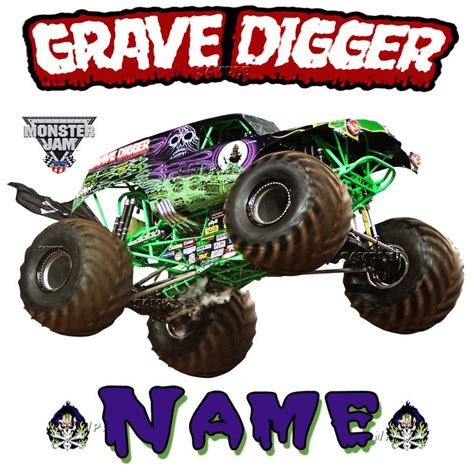 grave digger monster truck merchandise new grave digger monster truck jam show personalized t