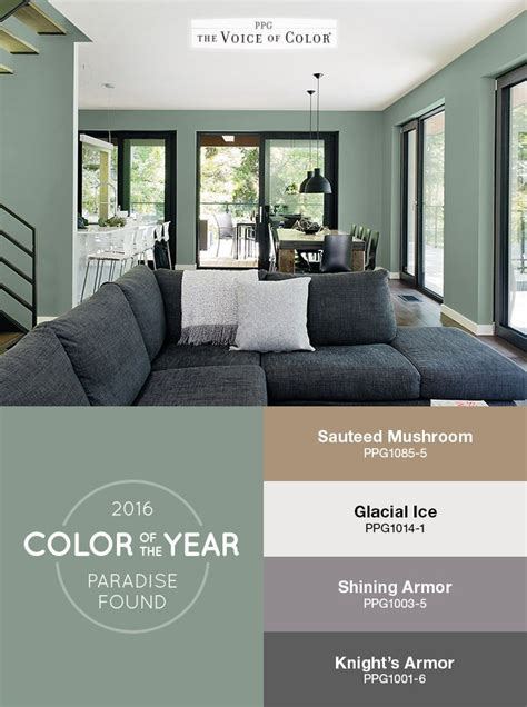 as color ppg names paradise found as color of the year 2016 shades