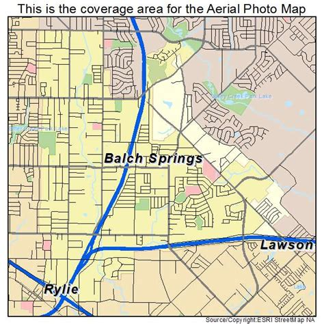 map of springs texas aerial photography map of balch springs tx texas
