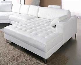 White Sofas Leather White Leather Snow Sectional Sofa Sectionals