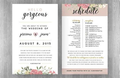 sle of wedding reception program wedding reception timeline planning guide modwedding