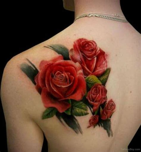 rose on back tattoo tattoos designs pictures page 43