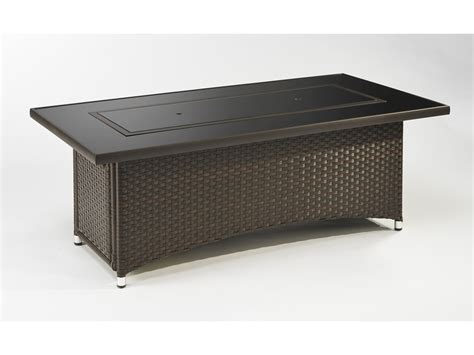 Firepit Coffee Table Outdoor Greatroom Montego 59 75 X 30 Rectangular Pit Coffee Table With Balsam