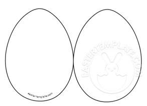 easter egg template easter egg card templates easter template
