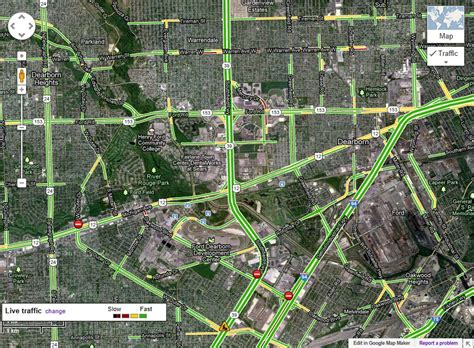 detroit traffic map maps expands live traffic feature for eight