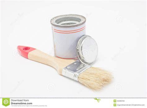 pinceau avec le pot de peinture images stock image 34236794