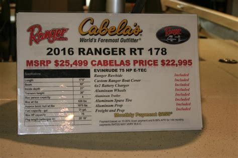 cabelas fort worth tx boats 2017 ranger rt178 18 foot 2017 ranger boat in fort worth