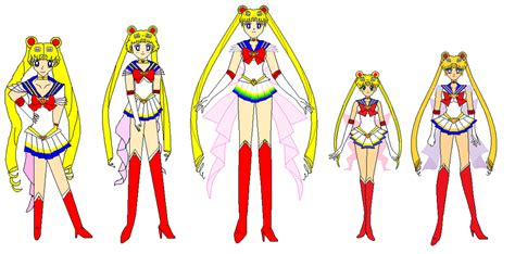 sailor moon my versions from each year by ppsantos1989