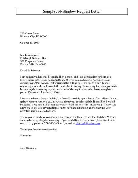 Cover Letter For Shadowing Best Photos Of Letter Requesting Shadow Request Letter Sle