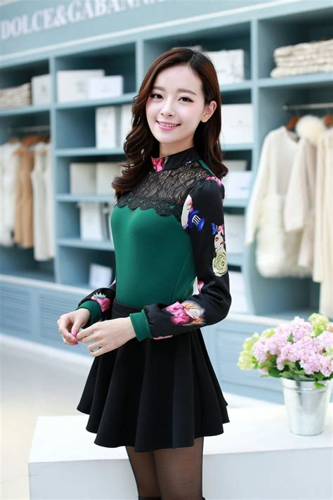 Bl3013 Lace Blouse Green Murah lace blouse bl3013 green tamochi