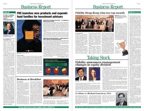 graphic design newspaper layout fidelity investments newspaper graphic design guy with