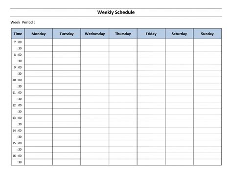 weekly calendar with hours template online calendar