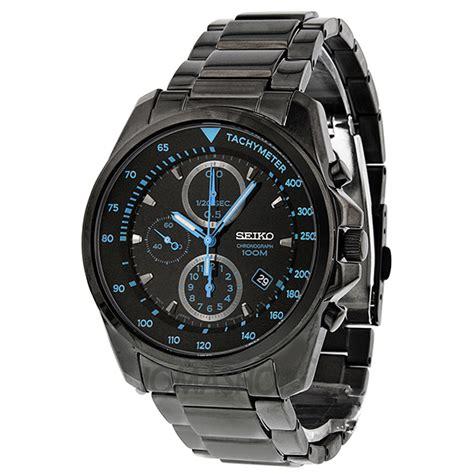 seiko chronograph black black pvd stainless steel