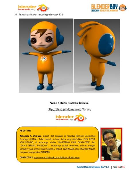 Blender Di Ramayana Tutorial 3d Character Modelling Blender Boy With Blender 2 49