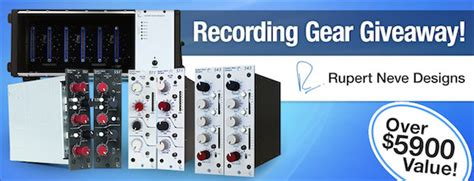 Sweetwater Giveaway - rupert neve recording gear giveaway
