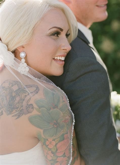 tattooed bride brides with tattoos
