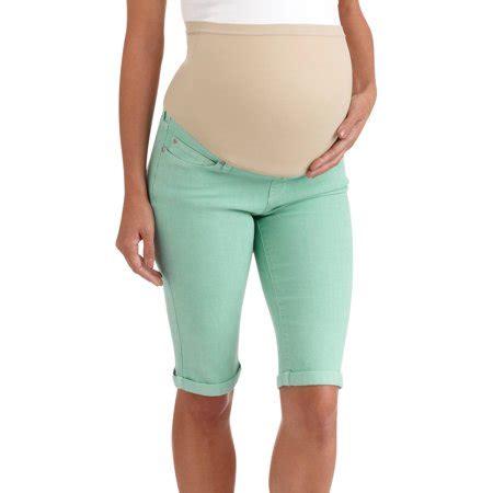 colored maternity maternity panel colored bermuda shorts walmart