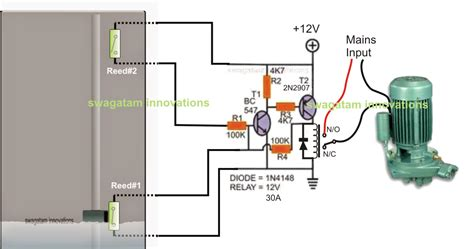 12 volt reed switch 12 wiring diagram and circuit schematic