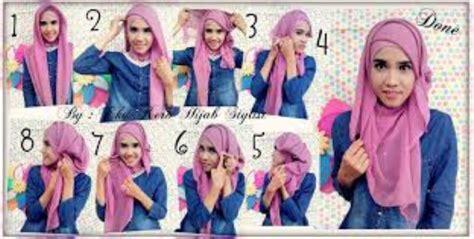 tutorial berhijab untuk wajah panjang tutorial hijab modern untuk wajah lonjong