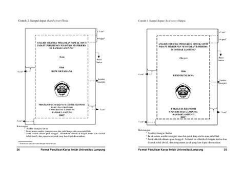 format margin skripsi panduan penulisan laporan akhir
