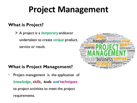 what is concept project management basic concepts