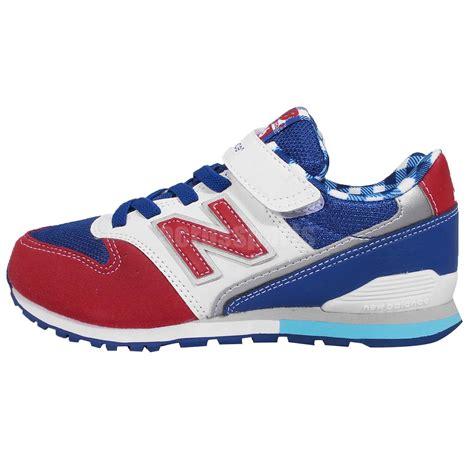 new balance youth running shoes new balance kv996cty m white blue youth running