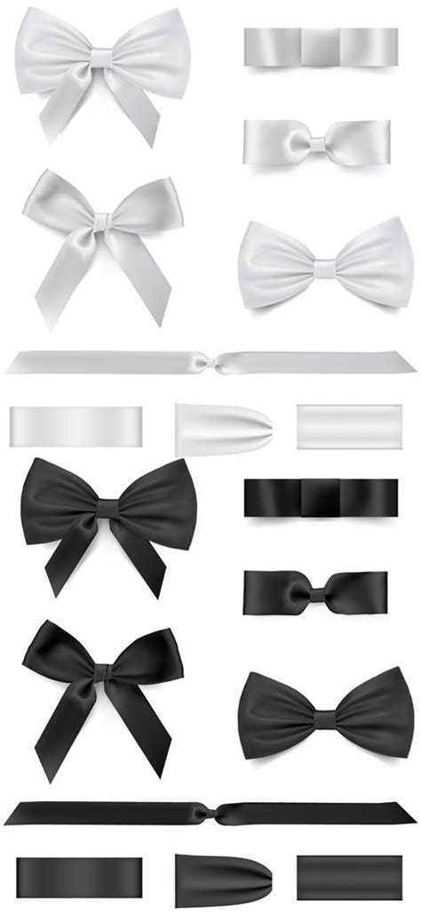 vector ribbon tutorial black with white bow ribbon vector vector other free