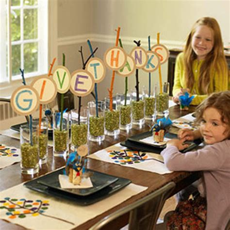 kid crafts for thanksgiving table decorations thanksgiving table ideas including great craft projects
