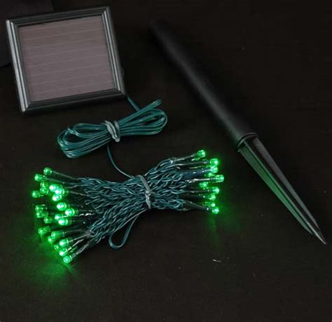 green solar lights green solar lights with 50 bulbs novelty