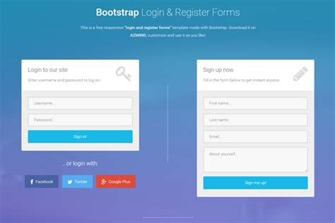 free bootstrap login page template bootstrap login and register forms in one page 3 free