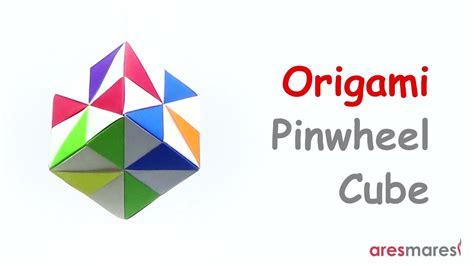 Origami Pinwheel Cube - origami pinwheel cube easy modular