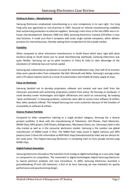 research paper on samsung harvard business school study samsung college paper