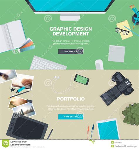 design concept graphic set of flat design illustration concepts for graphic
