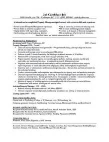 Property Manager Assistant Sle Resume by Assistant Property Manager Resume Best Business Template