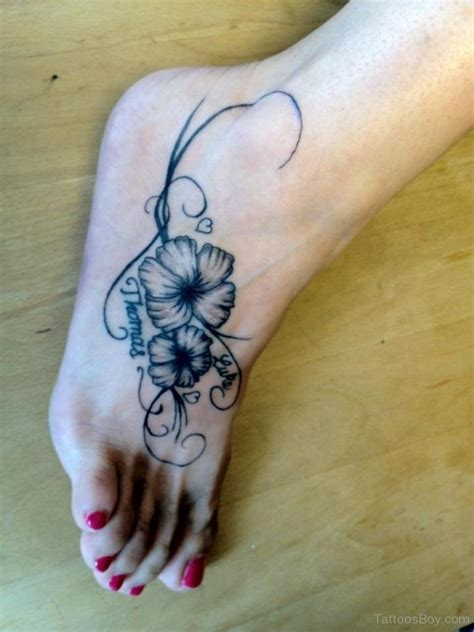 flower foot tattoos designs hibiscus tattoos designs pictures