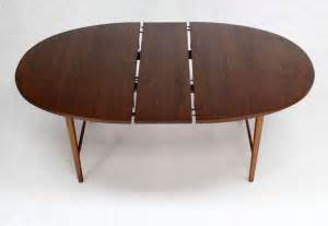 modern oval dining table danish mid century modern oval walnut dining table with extension leaf at 1stdibs