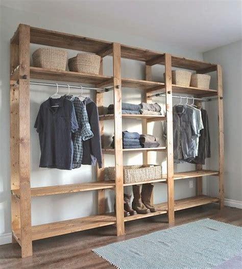 open clothes storage system diy quarto closet de 60 modelos para mudar seu quarto