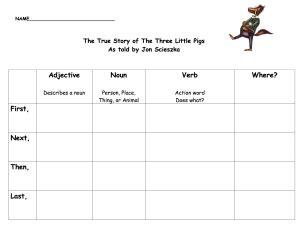 true story pigs write activity