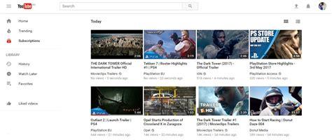 google layout youtube youtube primeşte o interfaţă material design cu o temă pe
