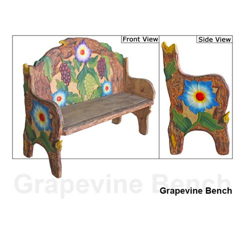 Grapevine Furniture by Carved Collection Grapevine Bench Cb108