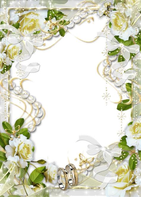 Wedding Borders And Frames Png by White Wedding Flowers Png Photo Frames