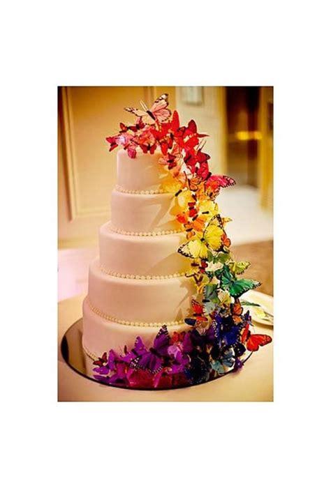 Hochzeitstorte Schmetterlinge by Hochzeitstorte Mit Regenbogen Schmetterlinge 2068022