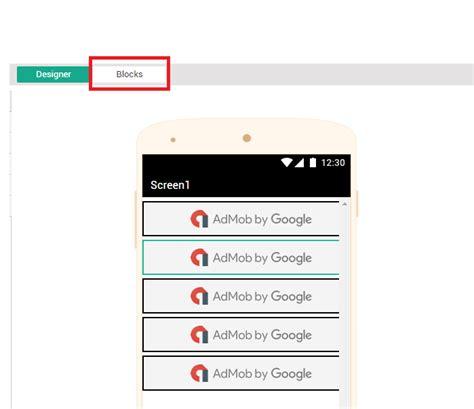 membuat aplikasi android admob tips membuat aplikasi admob impression dengan thunkable