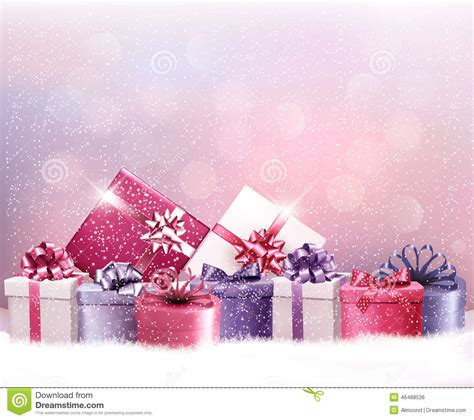 christmas holiday christmas holiday background with presents stock vector