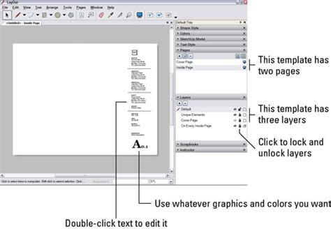 sketchup layout how to edit template how to build a layout document dummies