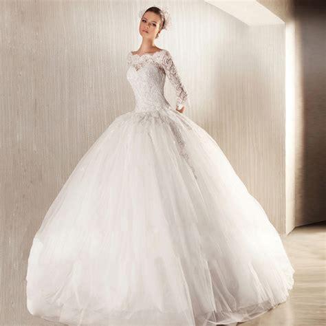 brautkleid ballkleid vintage white wedding dress gown boat neck