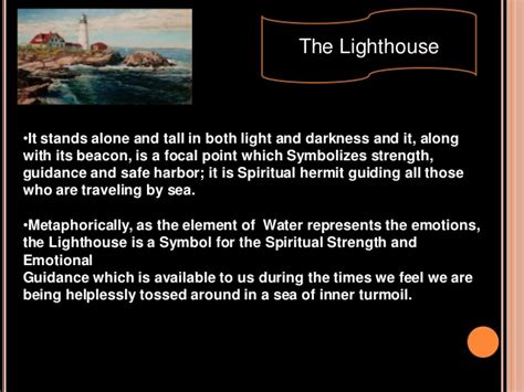 symbolic meaning of light symbolism to the lighthouse