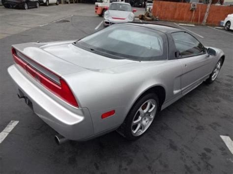 salvage acura nsx for sale acura nsx coupe 1991 silver for sale jh4na1153mt002895